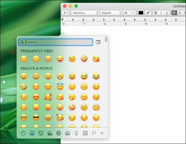 How To Type Emoji On Your Mac With A Keyboard Shortcut In 2020 Messaging App Keyboard Shortcuts Emoji