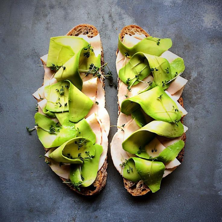 Tag Someone to Eat This With - Tuna Sauce, Roasted Chicken and Shaved Avocado on Toast #homemade #lunch #shavedavocado #fooddeco