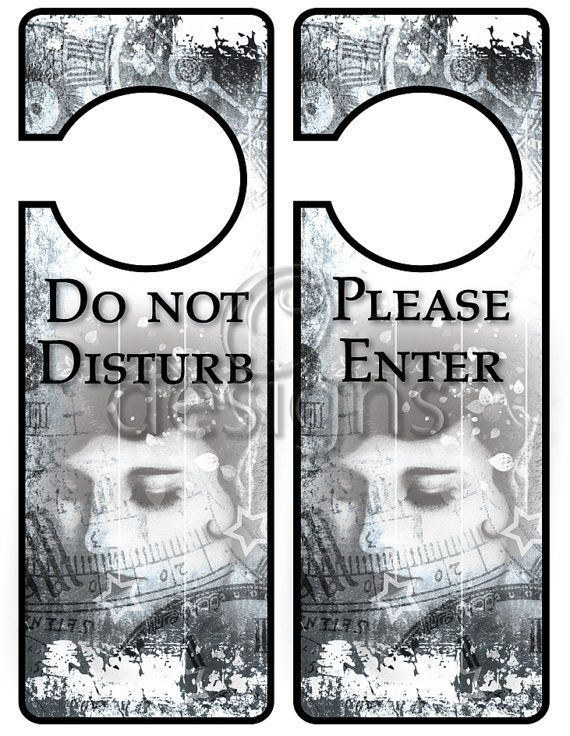 Door Hanger Signs No 3 Digital File by Odesigns on Etsy, €2.00