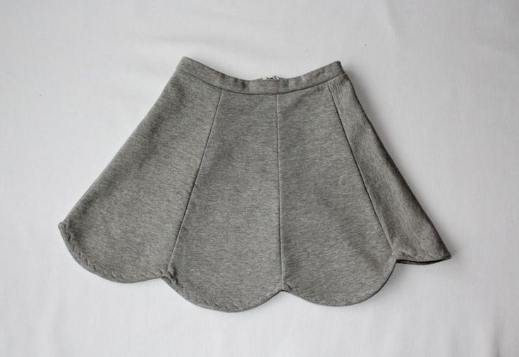 RoomStyle Spódnica Dresowa Siwa Rozkloszowana  w RoomStyle na DaWanda.com