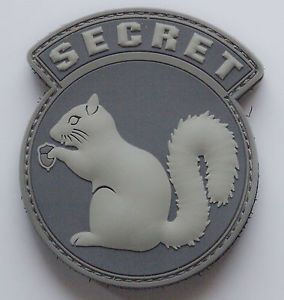 morale patches | ... MIL-SPEC MONKEY: Morale Velcro Patch Secret Squirrel PVC ACU LIGHT