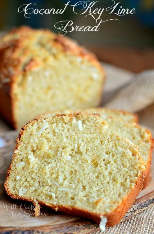 Coconut Key Lime Bread | from willcookforsmiles.com #bread #coconut #keylime