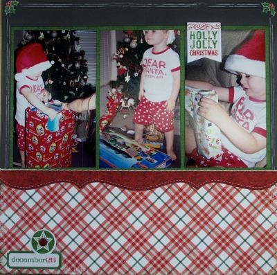 Christmas page created by Teena Hopkins with Little Yellow Bicycle Making Merry collection for My Scrappin' Shop.