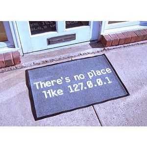 Don't like this doormat, but have been tempted to make a cross stitch of this.
