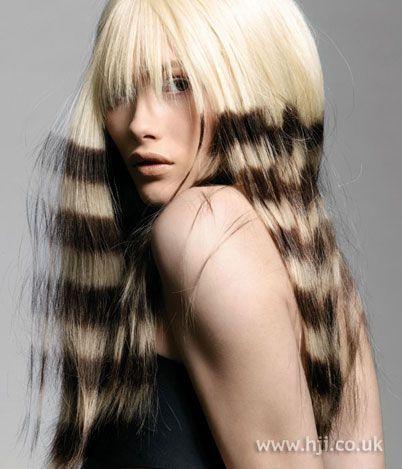 Foto de peinado creativo recta
