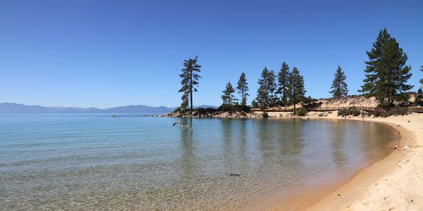 stand up paddle boarding in kings beach lake tahoe
