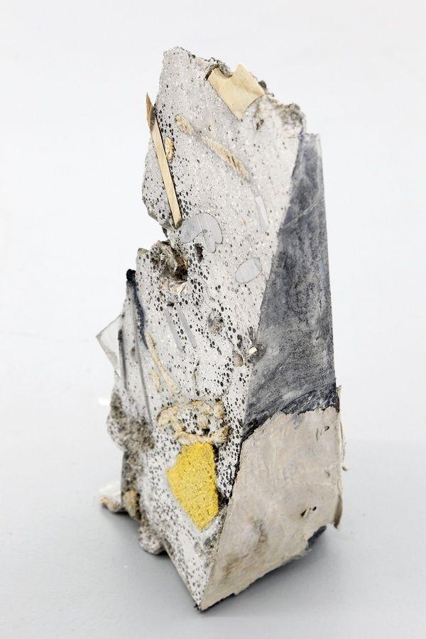 Jacob, Inconcrete (sharp). 2014, concrete and mixed media, 45 x 14 x 16 cm