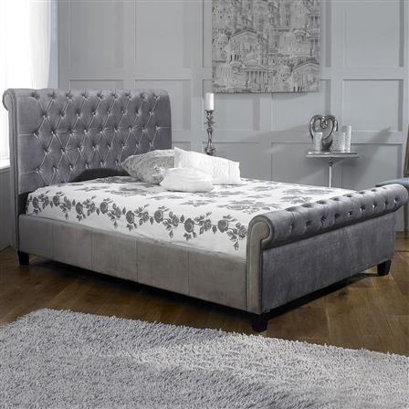 Orbit Double Bed Frame with Memory Foam Mattress, Silver
