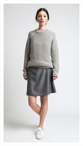 raw skirt (luxe tweed)