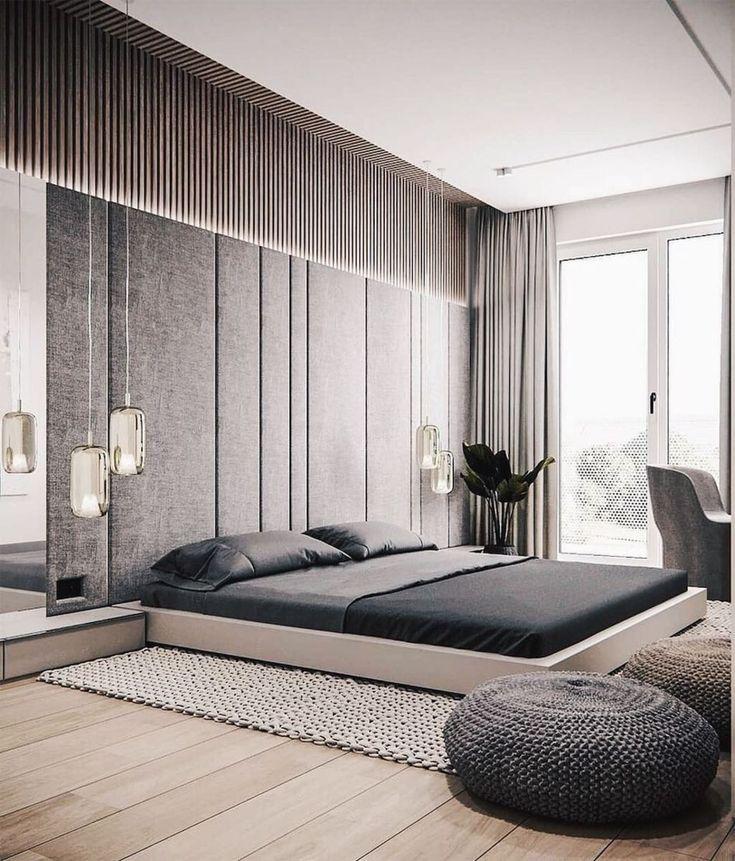 rustic bedroom daily interior design inspiration | Minimal Interior Design Inspiration | Modern master ...