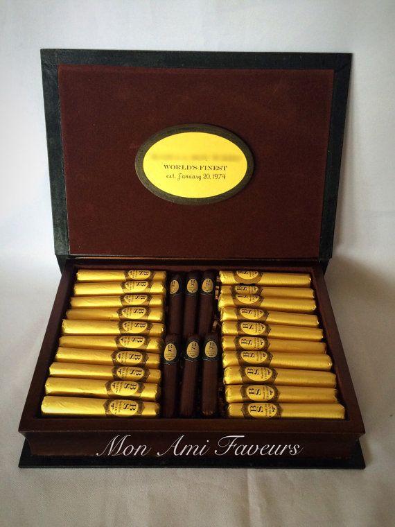 Premium Chocolate Cigar Gift Arrangement by MonAmiFaveurs on Etsy