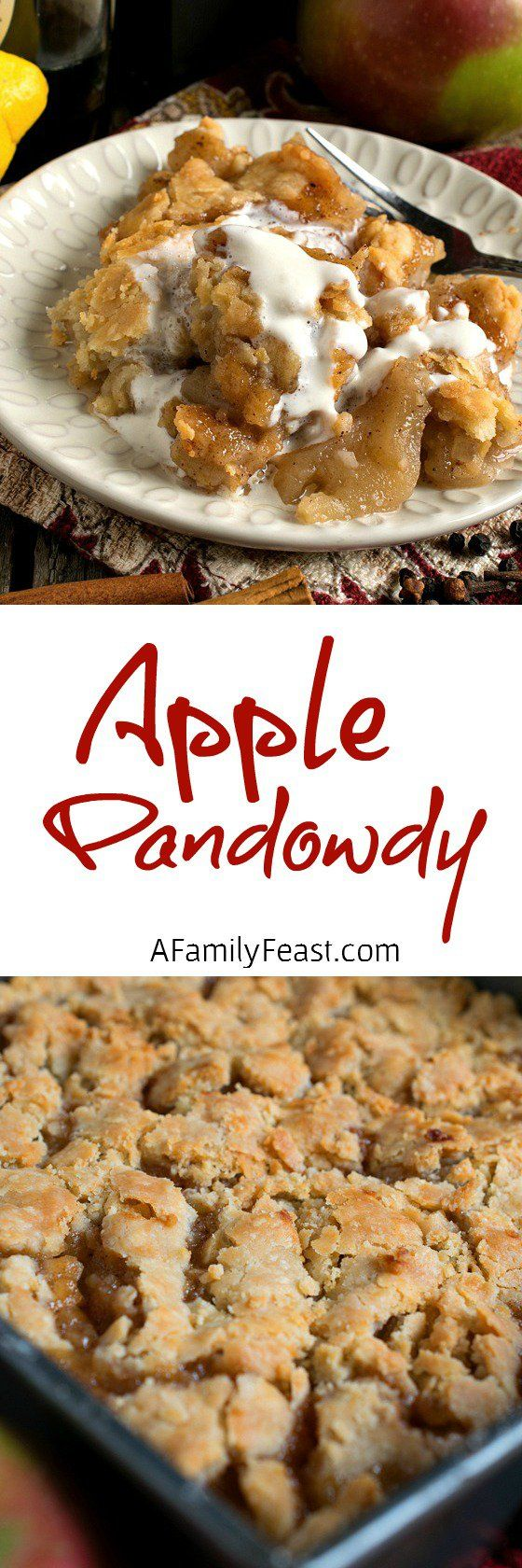 Apple Pandowdy - A vintage New England recipe, this apple dessert has a rich, sweet and very distinctive flavor!