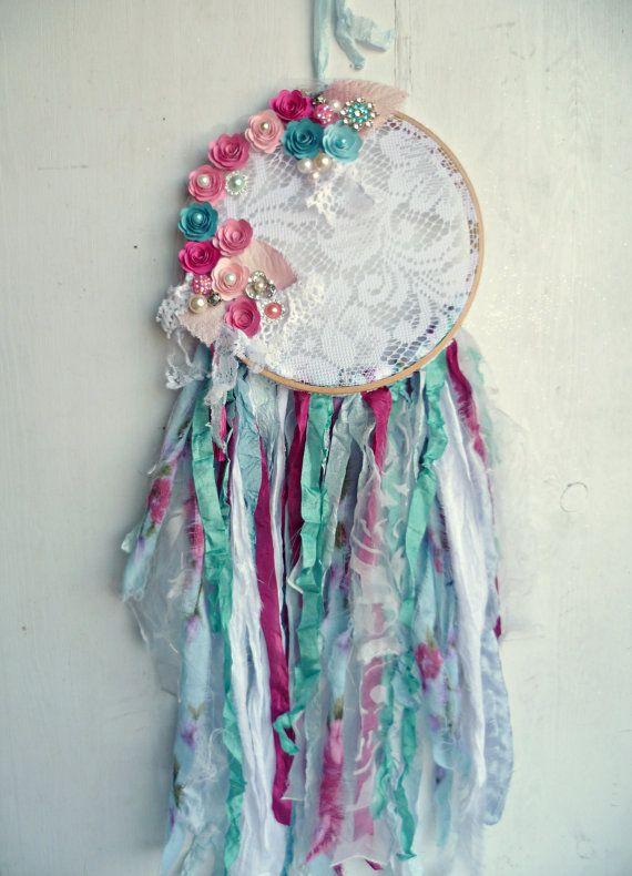 Shabby Cottage Chic Dream Catcher Bohemian by ProvencalMarket