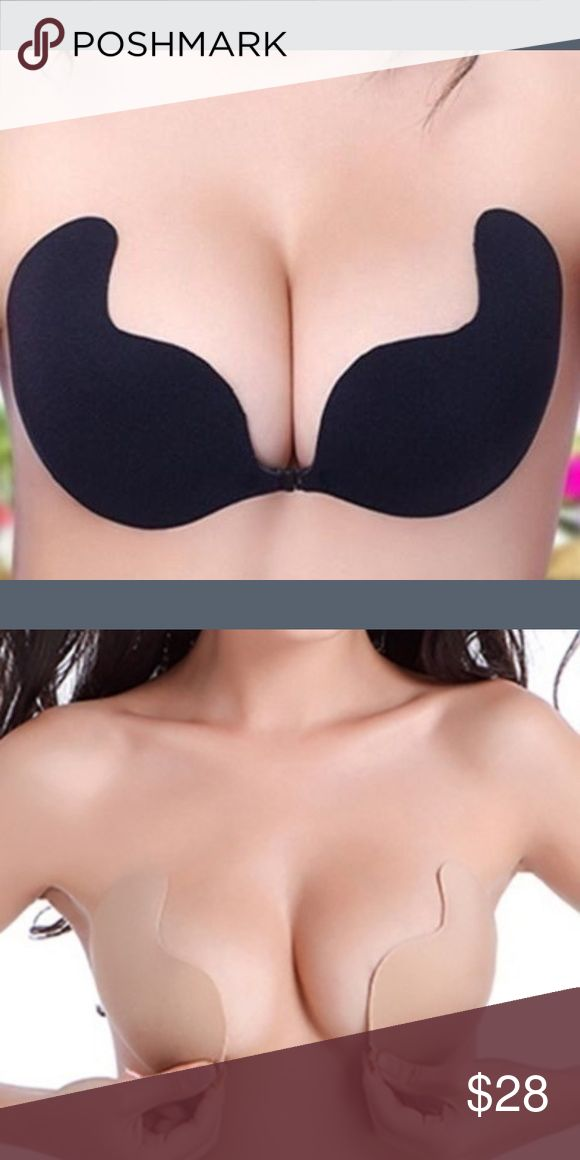Self adhesive Bra. SALE Self adhesive push up gel bra. Works great. Only one available. Backless. Great support. Only D cup available. There are two in black Intimates & Sleepwear Bras