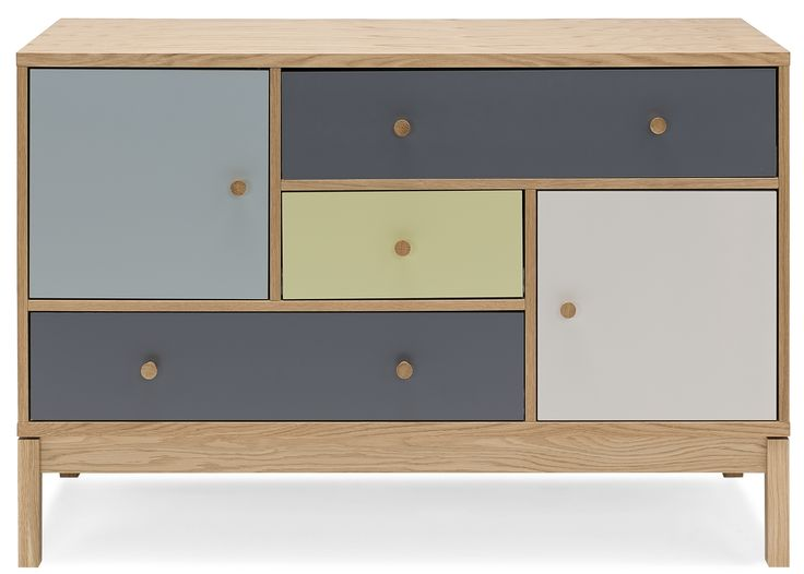 Sideboard Living i multicolour och ek.