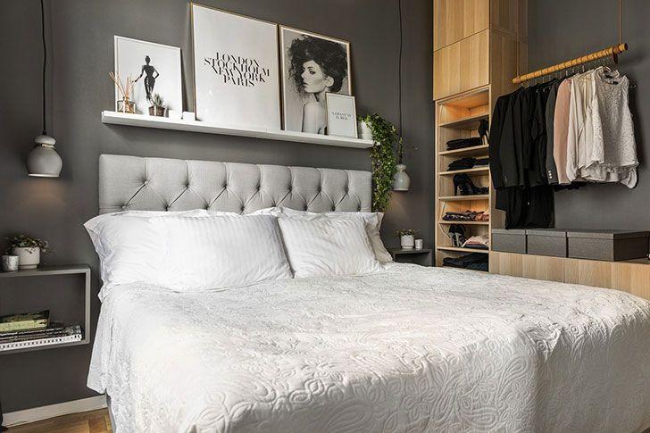 Маленькая девичья квартира с отдельной спальней и террасой (36 кв. м)   Пуфик - блог о дизайне интерьера
