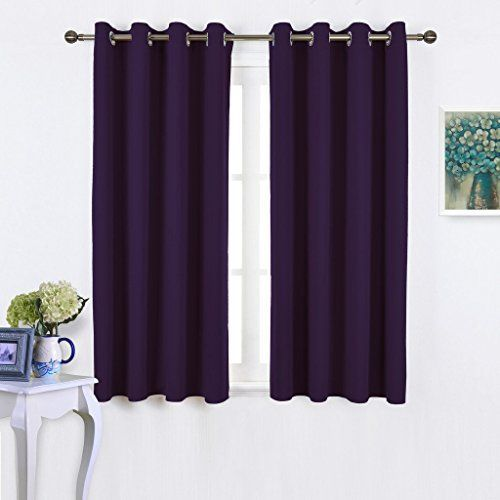 NICETOWN Window Treatment Royal Purple Blackout Curtains for Bedroom/ Living Room Window, 45 inch Long, 2 Panel Set * Want to know more, click on the image.