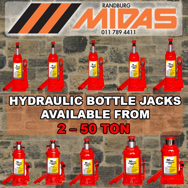 #Randburg #Midas stock a wide range of #bottleJacks that will help you take the heavy work out of lifting http://bit.ly/1Sx3FOp