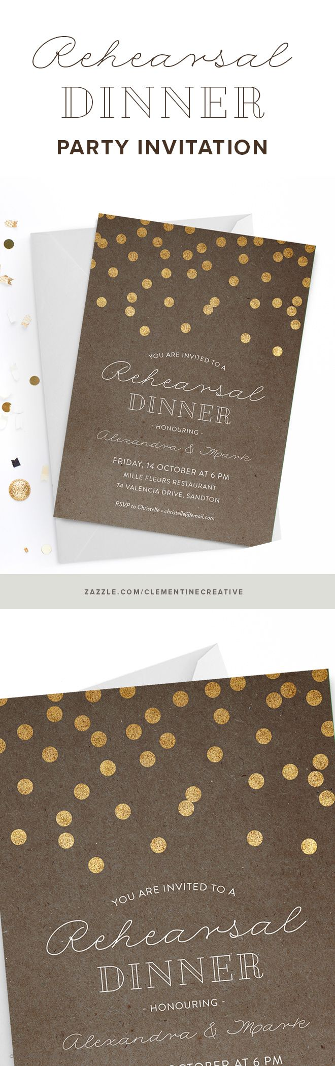 happy birthday invitation pictures%0A Wow your guests with this casual yet classy rehearsal dinner invitation  featuring a kraft paper background