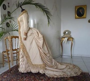 ≥ antieke jurk - victoriaanse kleding - antieke bruidsjurk - Antiek | Kleding en Accessoires - Marktplaats.nl