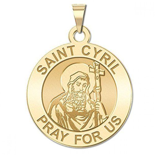 CHAIN IS NOT INCLUDED Available in Solid 14K Yellow or White Gold or Sterling Silver Size Reference: 17mm is the size of a US dime 19mm is the size of a US nickel 25mm is the size of a US quarter Cyril of Alexandria (c. 376 444) was the Patriarch of Alexandria from 412 to 444. He came to power when the city was at its height of influence and power within the Roman Empire. Cyril wrote extensively and was a leading protagonist in the Christological controversies of the later 4th and 5th…