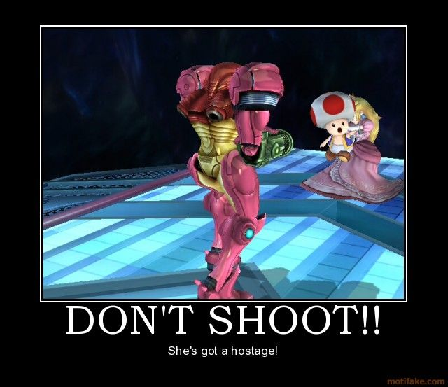 Super Smash Bros. Brawl. I always felt bad using Toad as a shield...