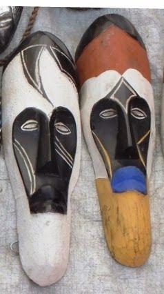 African Wood Carved Masks