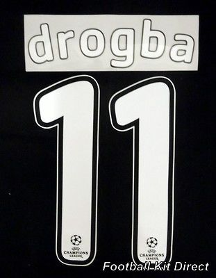Chelsea drogba 11 #2007/08 uefa #champions league final football #shirt name set,  View more on the LINK: http://www.zeppy.io/product/gb/2/201534966256/