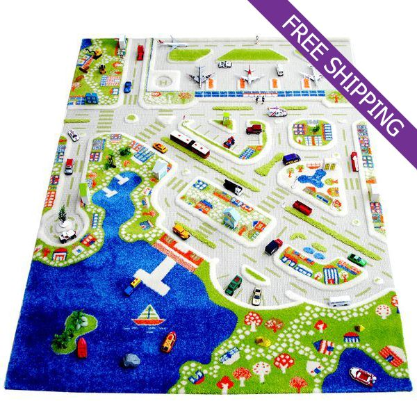 Turkish Rugs IVI Kids Play Rug Mini City Large