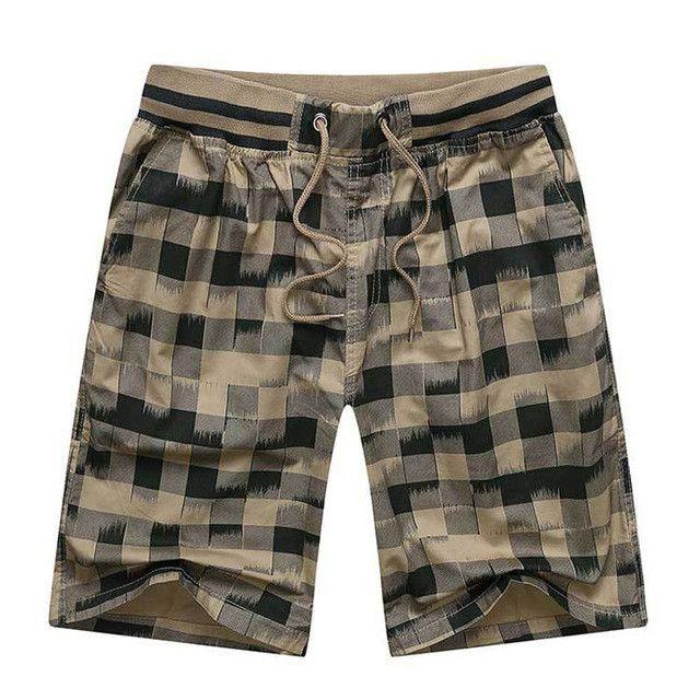Hot 2017 Summer Men Plaid Shorts Classic Design Cotton Casual Beach Short Pants Brand Famous Shorts Plus Size 4XL High Quality