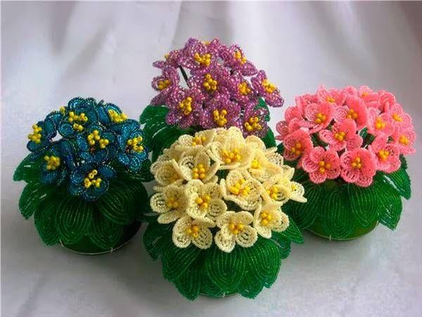 Цветы из бисера 4 мастер-класса / Увлечения и хобби