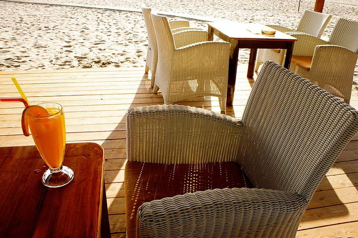 fresh orange juice in the morning, sitting at the beach. 'Paleochora' south west Crete. http://www.kritiguide.com/