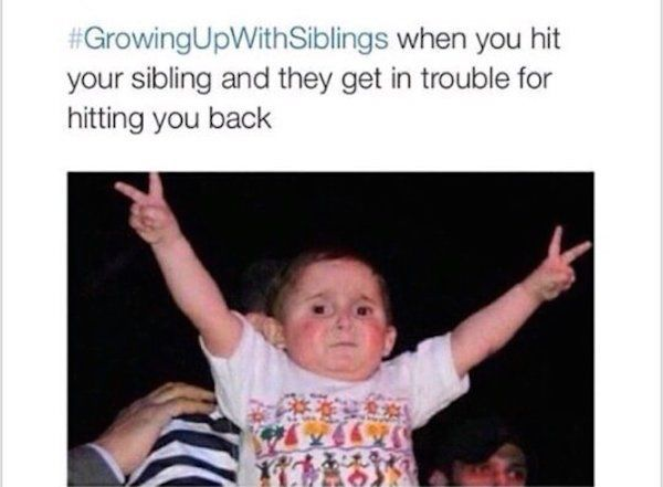 Funny Memes For Sisters : Best growing up with siblings images funny
