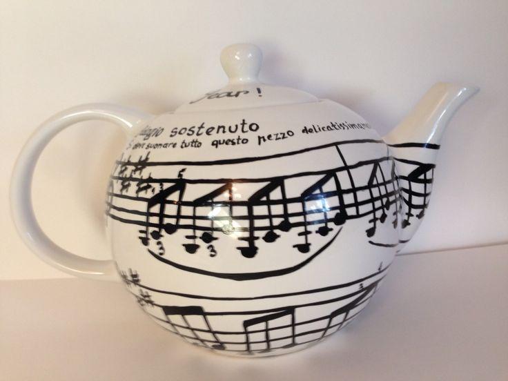 Роспись керамических чайников