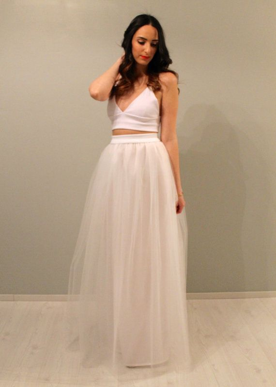 Plus size white maxi tulle skirt plus size tulle by Batelboutique