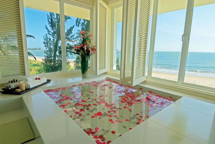 The Spa VIP Room, ocean view through all windows, including from your private jacuzzi.