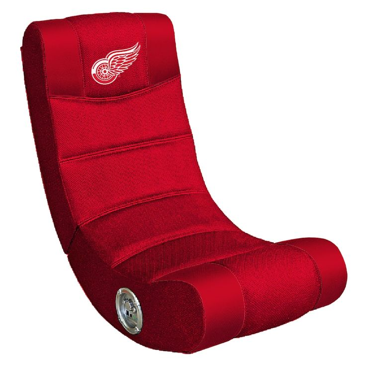 Detroit red wings bluetooth video gaming chair black