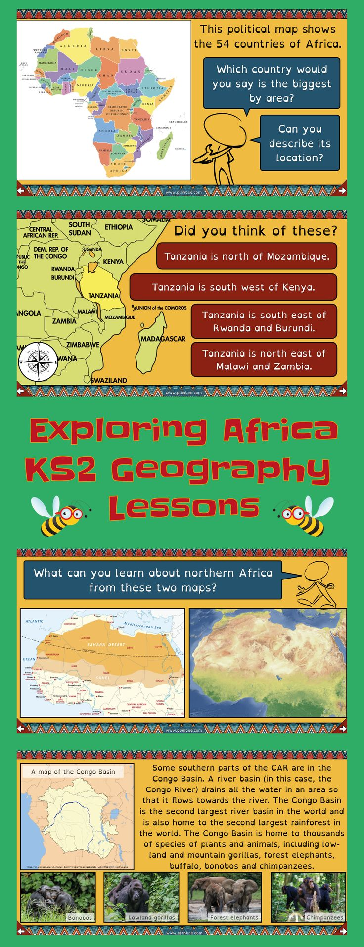 Exploring Africa Geography, Physical geography, Africa