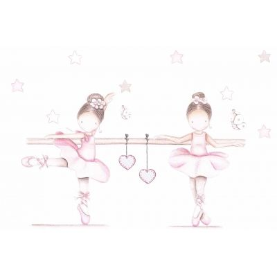 "Mural infantil personalizado ""Bailarinas VII"""