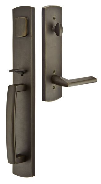 Shop For The Emtek Flat Black Brighton Single Cylinder Keyed Entry Rustic  Modern Bronze Handleset And Save. Find This Pin And More On Rustic Door  Hardware ...