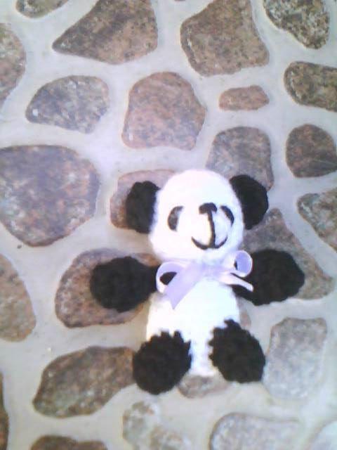 osito panda hecho por mi