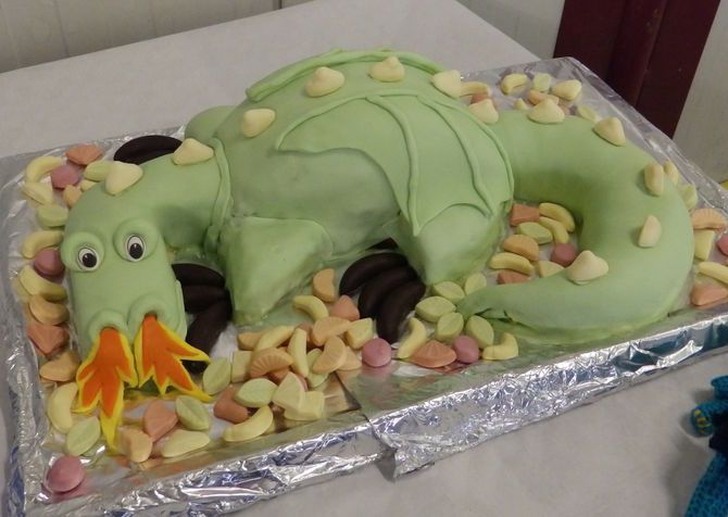 Make A Fire Breathing Dragon Cake Recipe Party