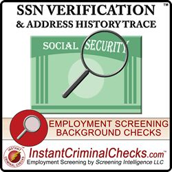 A Social Security Number validation and Address History Trace provides confirmation of the state and year of issuance of the SSN entered and returns past addresses. #AddressHistoryTrace #SSNTrace http://www.instantcriminalchecks.com/criminal-ssn-trace-social-security-number-verification-ssn-lookup-search.html