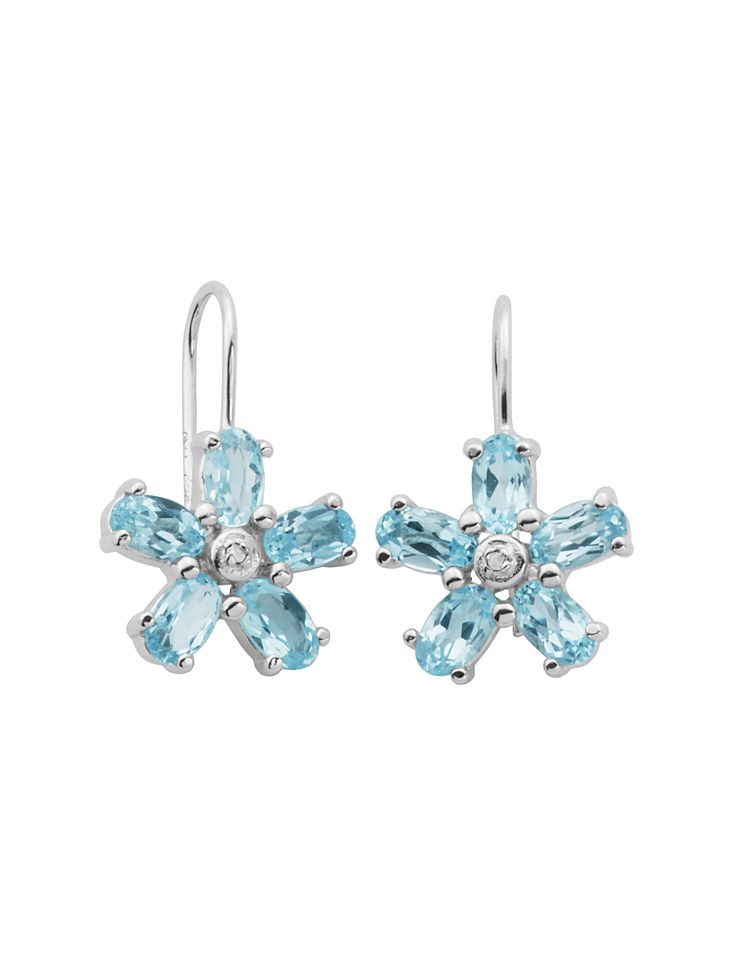 Shop today for PAJ Inc. Silver Sky Blue Topaz & Diamond Accent Flower Earrings & deals on Earrings! Official site for Stage, Peebles, Goodys, Palais Royal & Bealls.