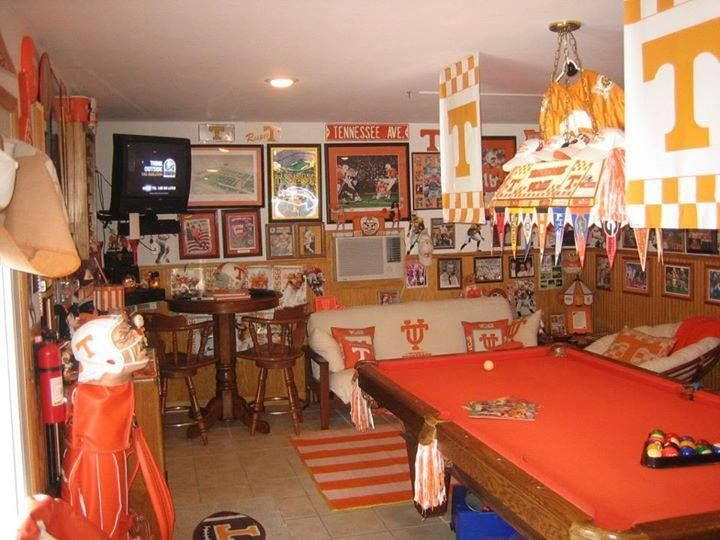 Tennessee Vols Man Cave Ideas : Man cave ut football and everything orange white