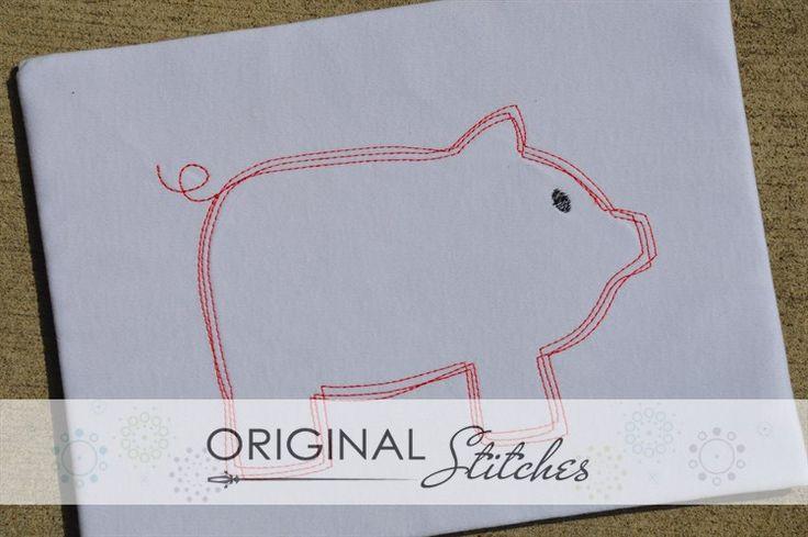 Pig - Quick Stitch, Machine Embroidery and Applique Designs Downloads | Original Stitches - Embroidery and Applique Design Store