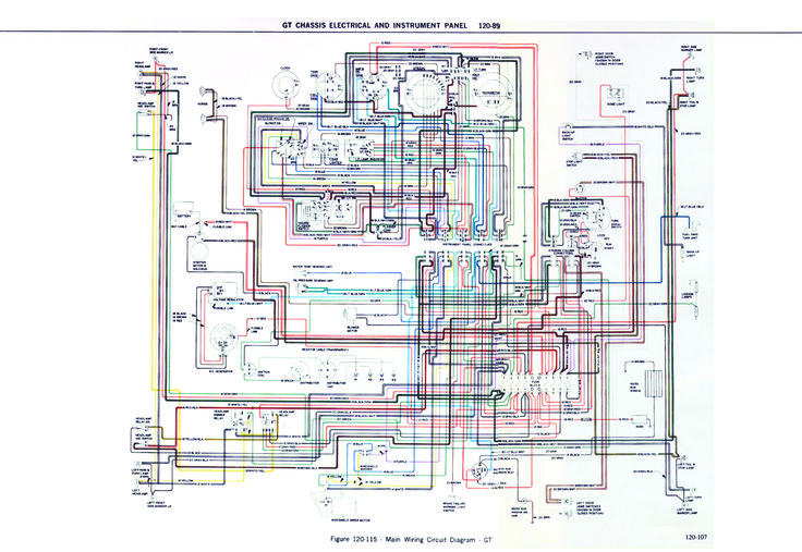 opel gt 1900 diagram chasis eletrical and instrument panel technical drawing opel gt 1900