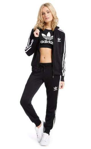 Trening dama Adidas cu pantaloni conici negru