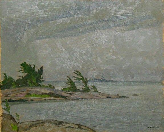 A.J. Casson - Georgian Bay 12 x 15 Oil on panel