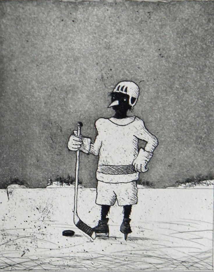 Hannu Hyrske grafiikkaa teos/taulu Junnu - Life Art Oy